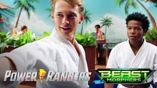 """Blaze vs Devon   Power Rangers Beast Morphers Episode 1 """"Beasts Unleashed"""""""
