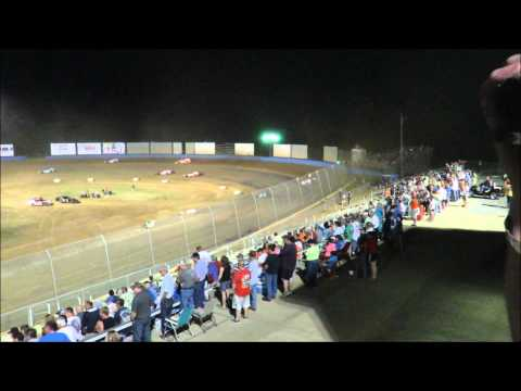 Kentucky Lake Motor Speedway KLMS American Modified Series $5K 6 13 2015 #34 Dave Armstrong