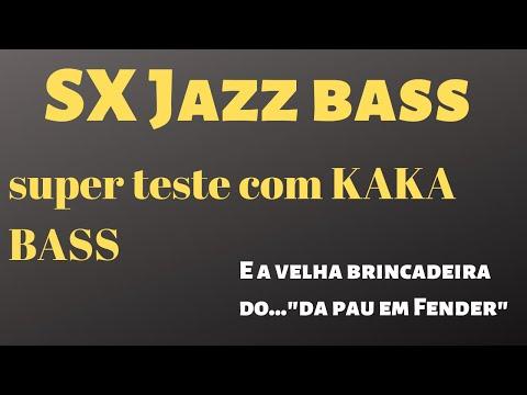 TESTE SX JAZZ BASS POR KAKA BASS (técnica de APOIO) CALÇADÃO MUSIC CENTER BAURU-SP