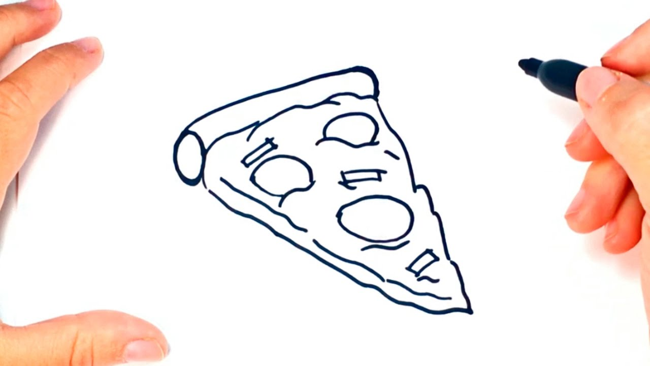 Uncategorized How To Draw A Pizza Slice how to draw a pizza for kids slice easy tutorial tutorial