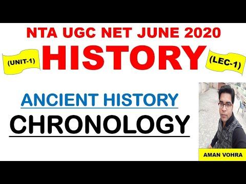 Ancient History Chronology || Lec 1 Unit 1 History || Ugc Net June 2020