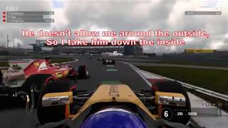 F1 2017 online open lobby - battles, crashes, idiots, dirty drivers part 3