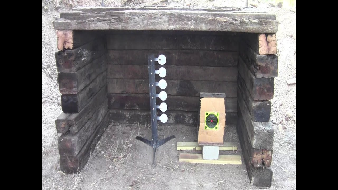 build a small backyard shooting range youtube