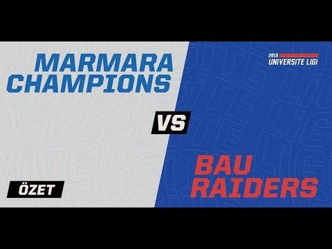 Marmara Champions ( MRM ) Vs BAU Raiders ( BAU ) 1. Maç Özeti | 2019 Üniversite Ligi Finali