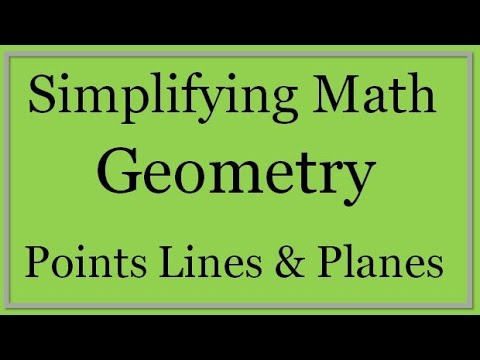 Geometry Lesson 1: Points, Lines and Planes (Simplifying Math)