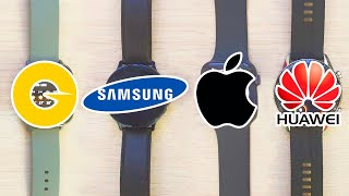 Amazfit GTS vs Samsung Galaxy Watch Active 2, Apple Watch Series 5 y Huawei Watch GT2