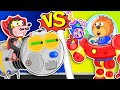 Lion Family 🍒 Iron Robot 13. Millipede vs Transformer   Cartoon for Kids