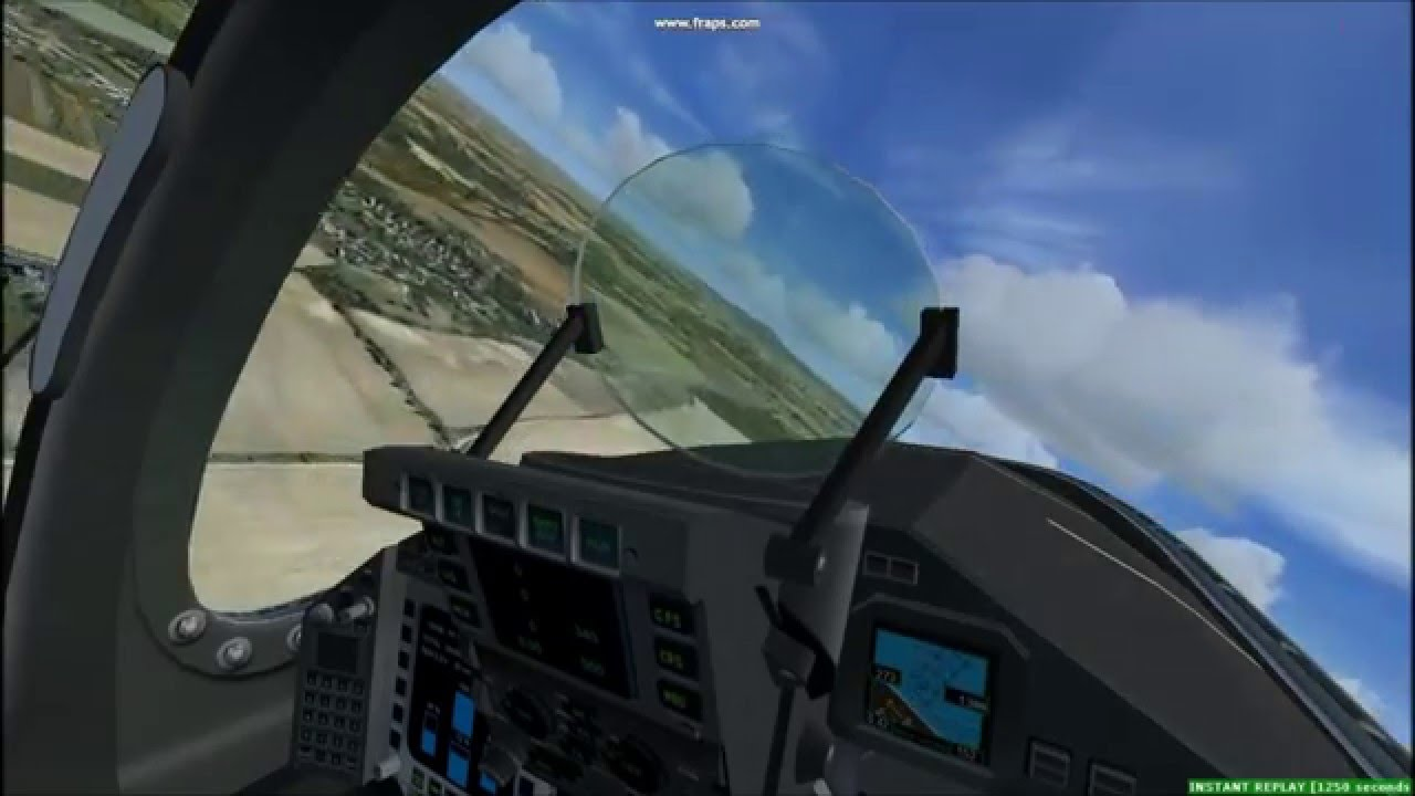 FSX Freeware scenery - Eurofighter Typhoon over Hungary