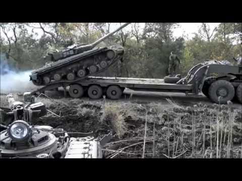 Танк&Платформа. Неудачная погрузка танка на платформу.