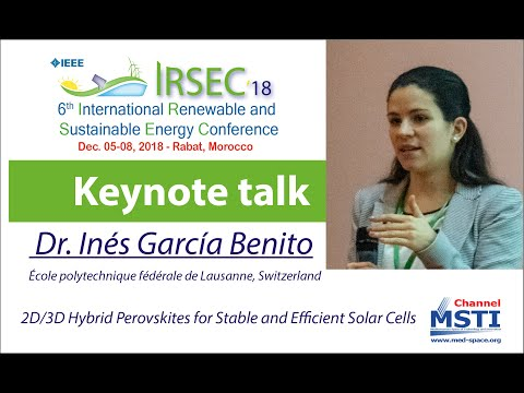 IRSEC'18 - 2D/3D Hybrid Perovskites for Stable and Efficient Solar Cells.