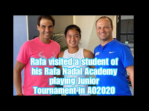 Rafa Visited Student Of His Academy Playing Junior Tournament l AO2020