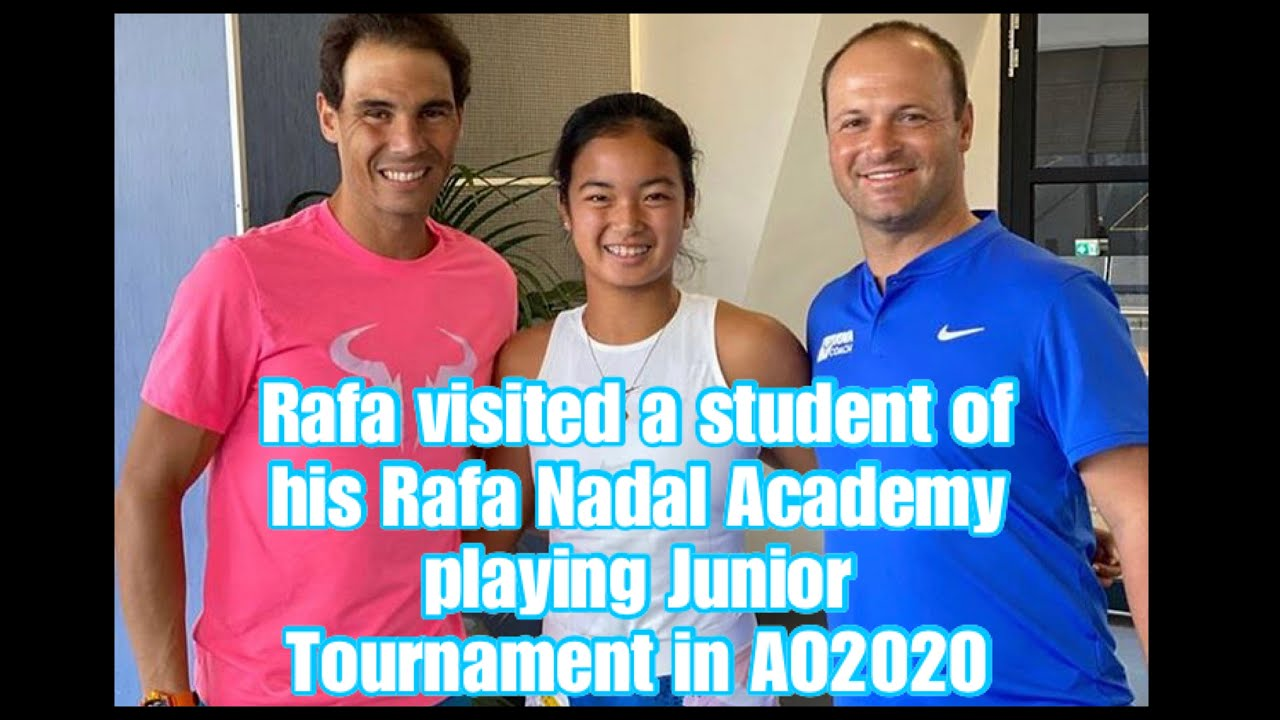 Rafa Visited Student Of His Academy Playing Junior Tournament L Ao2020 Youtube