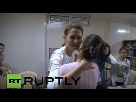 Syria: Asma al-Assad visits Damascus orphanage