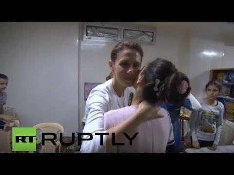 syria-asma-alassad-visits-damascus-orphanage
