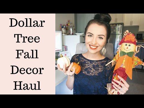 Dollar Tree Fall Decor Haul - September 2019