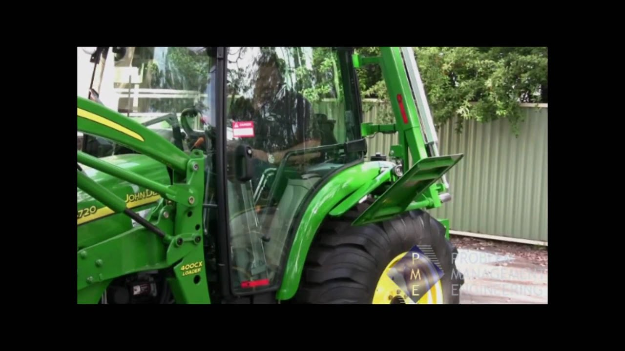 PME Tractor transfer lift for wheelchair user access - YouTube