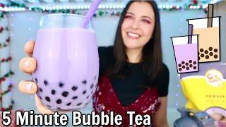 5-Minute Taro Bubble Tea Recipe