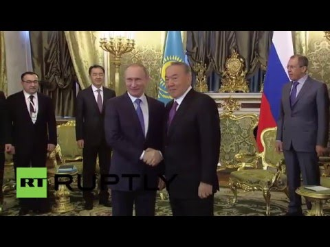 Russia: Putin and Nazarbayev talk Eurasian Economic Union in Moscow