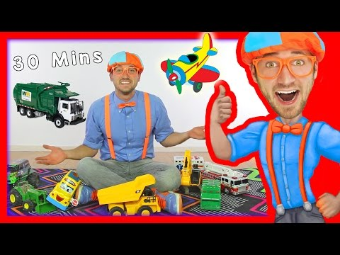 Toy Videos for Children with Blippi | Learn Numbers 30 Minut