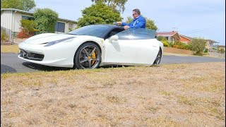 A LINE OF COCAINE IN A FERRARI BEFORE YOU DO A REAL ESTATE AUCTION