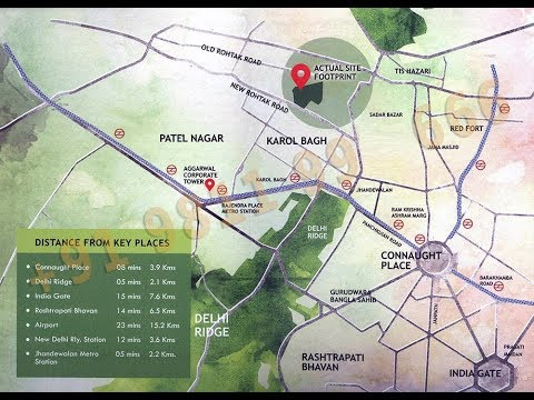 Unity The Amaryllis, Location Map, Karol Bagh, Delhi
