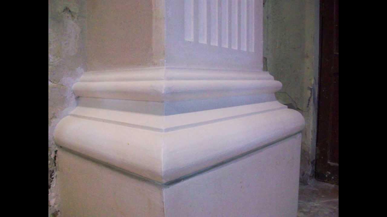 revestir columnas con pilastras de cn de anchura y coronarlas con cornisa de cm youtube