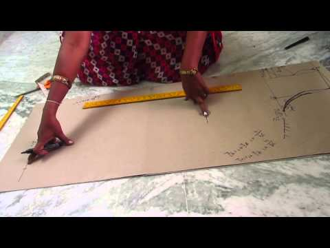 Kali top Cutting with measurements in telugu