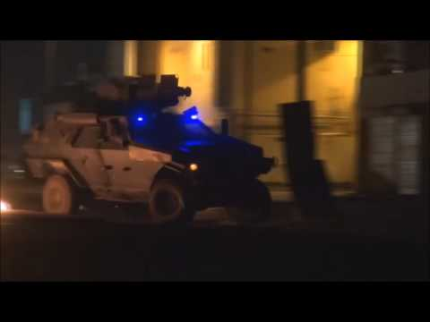 Bahrain : Resistance Movement Hit Riot Police APC Multiple Times With Molotov's