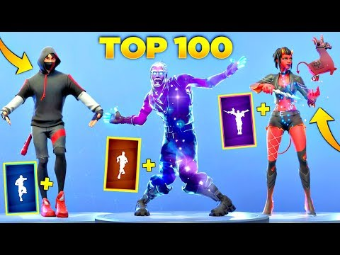 TOP 100 FORTNITE DANCES LOOKS BETTER WITH THESE SKINS Fortnite Battle Royale