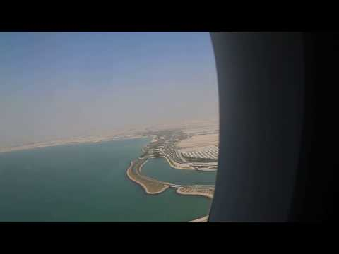 Morning take off from Hamad International Airport, Doha aboad a Qatar Airways A350