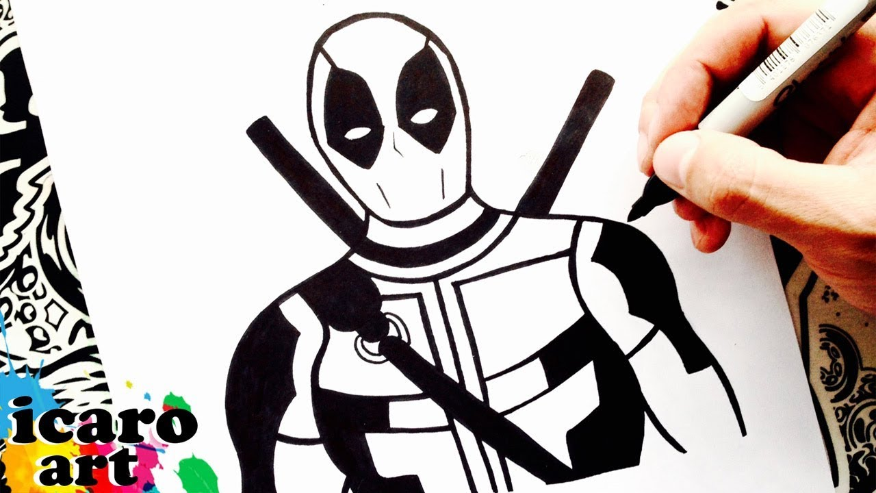Imagenes Para Colorear De Deadpool: Como Dibujar A Deadpool
