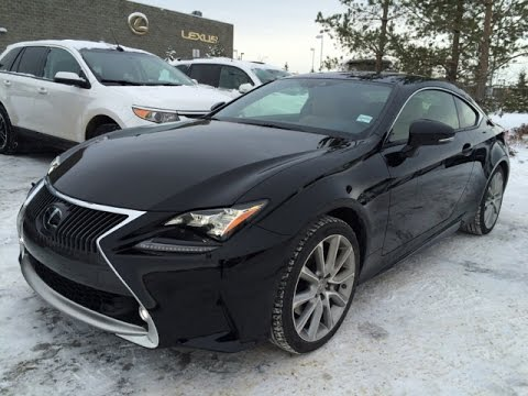 new black on flaxen 2015 lexus rc 350 awd executive package review alberta youtube. Black Bedroom Furniture Sets. Home Design Ideas