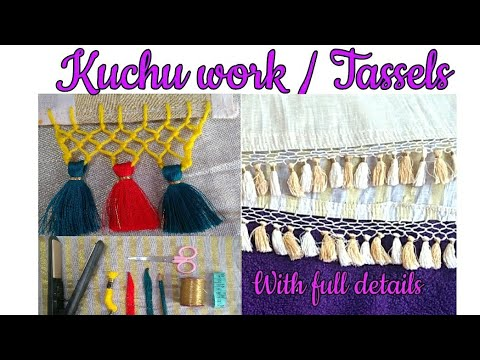 Saree Kuchu/Tassels work with chain:With full details: Tutorial for Beginners. thumbnail