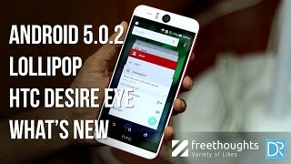 Android 5.0.2 Lollipop features - HTC Desire EYE
