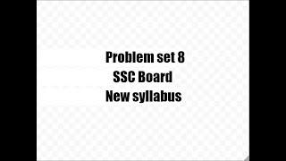 Problem Set 8,New Syllabus Class 9,SSC Maharashtra Trigonometry