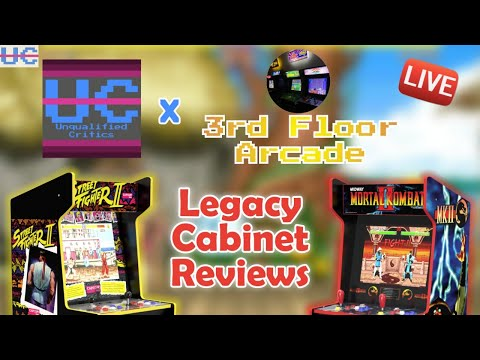 UC LIVE Arcade1up Legacy Cabinet Reviews: Deeper Look with Jason from 3rd Floor Arcade from Unqualified Critics