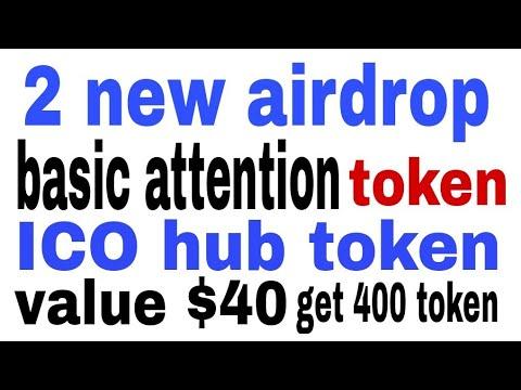 Get 400 token value $40 ICO hub token  basic attention token