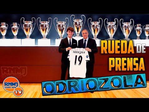 Rueda de prensa de Alvaro Odriozola como nuevo jugador del Real Madrid