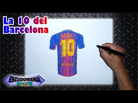 Dibuja Y Pinta La Camiseta 10 Del FC Barcelona: Messi