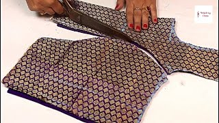 Cover images Princess cut blouse cutting and stitching in hindi, How to make princess cut blouse pattern drafting