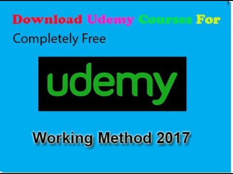 How To Download All Udemy Courses Video in HD For Free