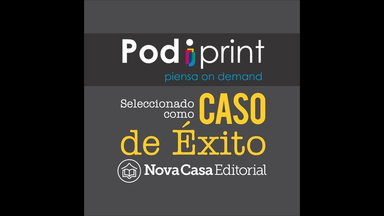 nova casa editorial como caso de éxito de impresión bajo demanda