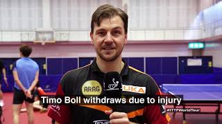 2018 Japan Open I Timo Boll Withdraws