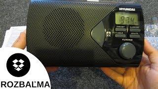 Prenosné rádio Hyundai PR200 (Rozbaľovanie / Unboxing)