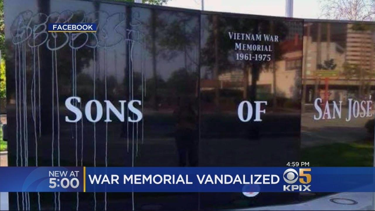 San Jose Vietnam War Memorial Vandalized