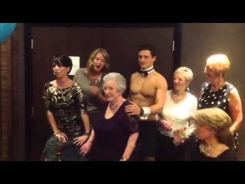 MARION SPAVIN GETS A BUTLER IN THE BUFF FOR HER 90th BIRTHD