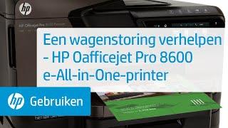 Een wagenstoring verhelpen - HP Officejet Pro 8600 e-All-in-One-printer