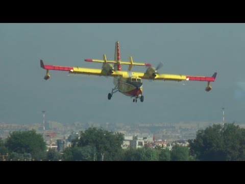 Italian Canadair CL-415 (I-DPCC) Firefighting Aircraft landing @ Ciampino Airport | Rome/Roma