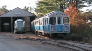 MBTA Blue Line 0600 Cars Running At Seashore