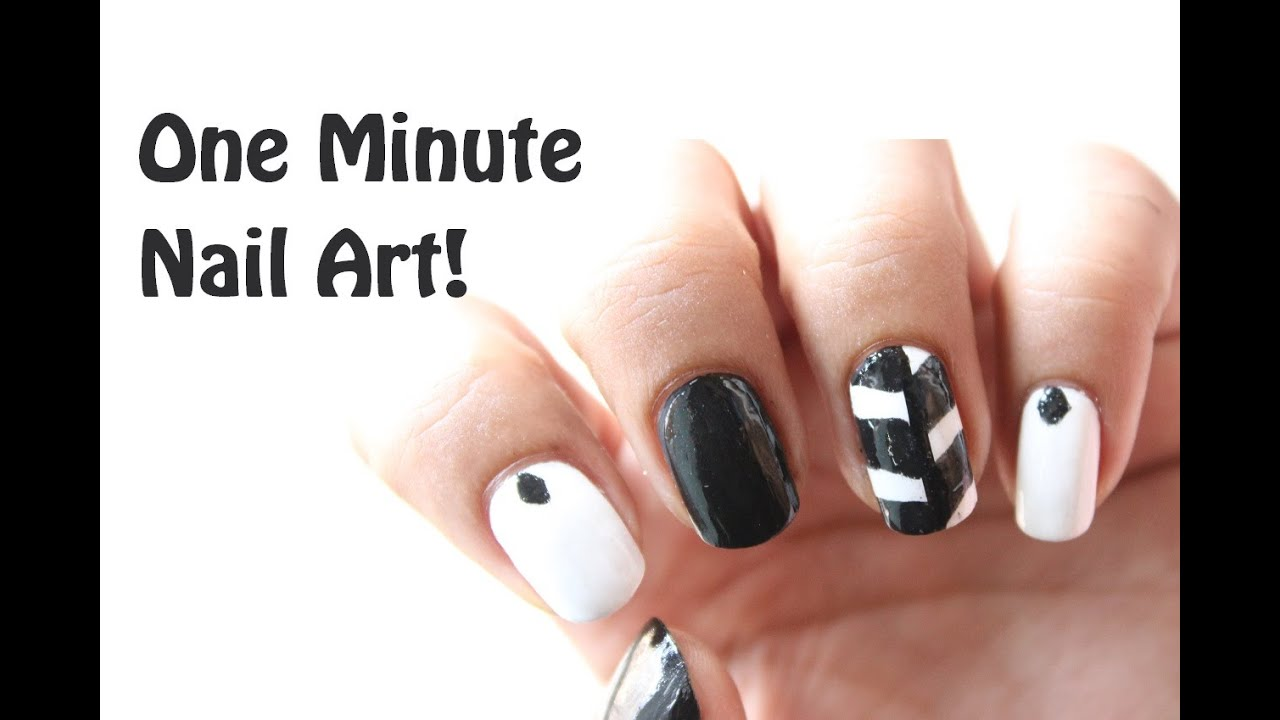 Quick Easy Nail Art Monochrome Nail Designs For Beginners